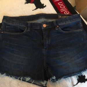 Blank NYC denim cut off shorts size 30